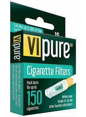 15 Vipure Reuseable Tar/nicotine Cigarette Filters Stop/quit Smoking Stopping