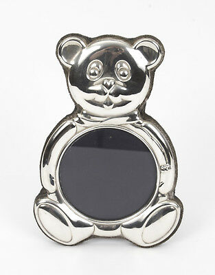 Stunning Vintage Teddy Bear Sterling Silver Photo Frame