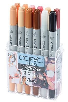 Copic Ciao Pens - 12 Skin Tone Colour Set - Graphic Art Markers