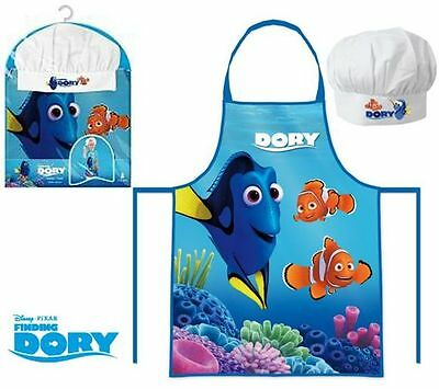 Boys Girls Kids Disney Finding Dory Chef Cook Gift Set Includes Apron And Hat