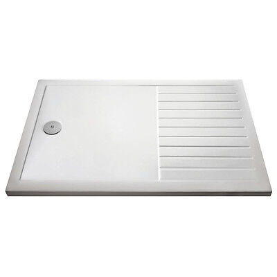 Premier 1600mm x 800mm Walk-In Shower Tray Rectangular Low Profile 40mm