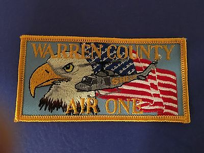 Warren County Tn Police Sheriff's Dept Air One Helicopter Police Patch