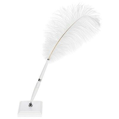 Wedding Classic Plain Square Feather Quill Pen And Stand
