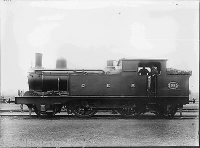 GER C32 CLASS 2-4-2T LOCO No 1085 LNER F3 8055 8x6 LNER OFFICIAL PHOTO