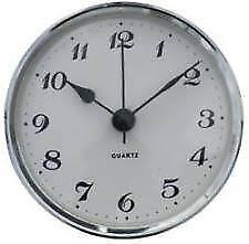 Caravan/ Motorhome - Clock - Round Chrome Surround - Quartz - Me521