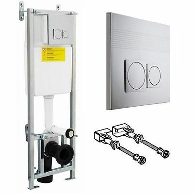 110cm Wall Hung Toilet Frame, Dual Flush Concealed Cistern  & Push Button XTY001