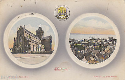 Postcard Kirkwall Orkney Islands view from St Magnus Cathedral posted 1909