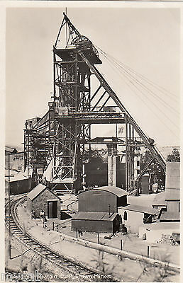 Postcard South Africa mining Headgear of Main Shaft Crown Mines RP by Recordia