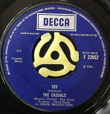 """THE CASUALS - TOY  b/w  TOUCHED  (1968)  7"""" vinyl single"""