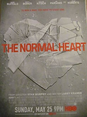 The Normal Heart, Mark Ruffalo, Taylor Kitsch, Full Page Promotional Ad