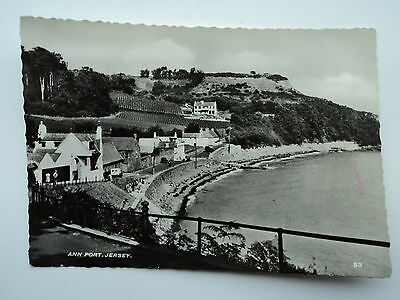 B.B. London old large B&W RP PC Ann Port, Jersey. Posted 1955.
