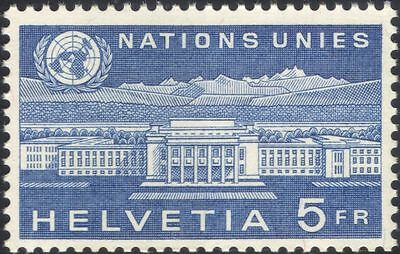Switzerland (UN Offices) 1960 United Nations 15th Anniv./Buildings 1v (n45318)