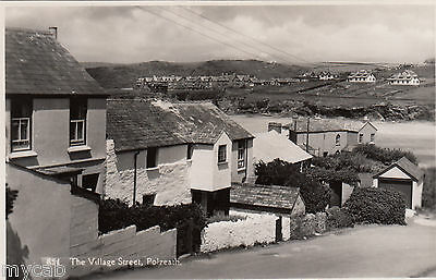 Postcard Polzeath nr Padstow Cornwall houses in The Village Street RP by Maycock