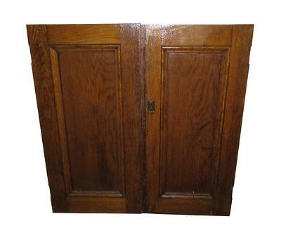 Pair of Single Panel Cabinet Double Doors