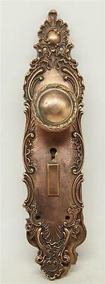 Copper Plated Brass Entry Doorknob Set