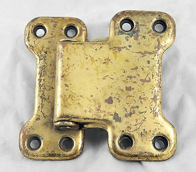 Vintage Brass Ice Box Hinge