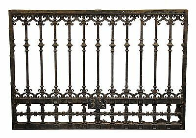 Iron Panel Or Window Guard With Scroll Detail