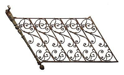 Fancy Forged Iron Railing With Post