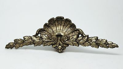 Pair of Fan Shaped Swag Gold Bronze Furniture Accent Appliques