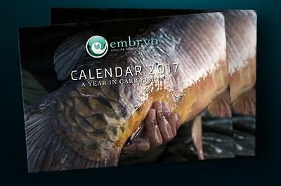 Korda NEW Carp Fishing Christmas Gift Embryo 2017 Calendar - EC1