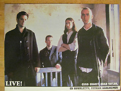 Live, Ed Kowalczyk, Courtney Love, Double Full Page Vintage Pinup