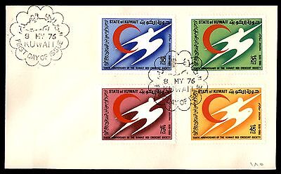 May 8, 1976 Kuwait first-day cover anniversary of red Crescent Society