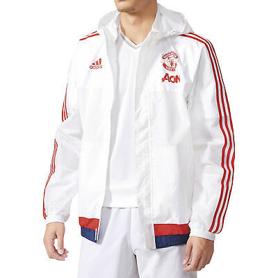 adidas Manchester United MUFC Mens All Weather Football Training Jacket - XS
