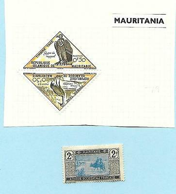 Mauritania, MH Birds, joined triangle, French Mauritanie 2c MNH