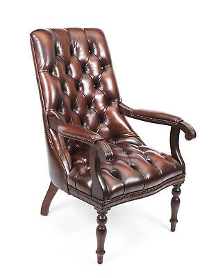 Bespoke English Handmade Carlton Leather Desk Chair BBO