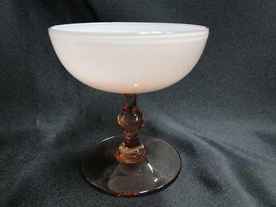 Colony COL13 Pink, Cased White Bowl, Pink Outer, Wafer Stem: Champagne/ Sherbet
