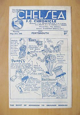 CHELSEA v PORTSMOUTH 1946/1947 *Excellent Condition Football Programme*