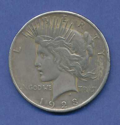 USA Silbermünze PEACE-Dollar 1923 m. Patina