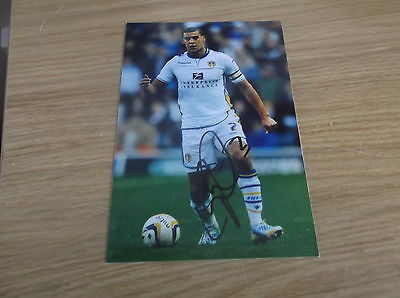Leeds United fc Lee Peltier signed 6x4 action photo