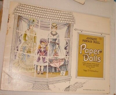 Antique French Doll PAPER DOLL Book Unused