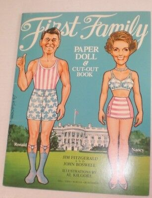 First Family (Reagan) Paper Dolls  Unused