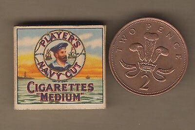 Tiny Full Packet Of Players Navy Cut Fake Cigarettes For Dolls House 1920S Rare