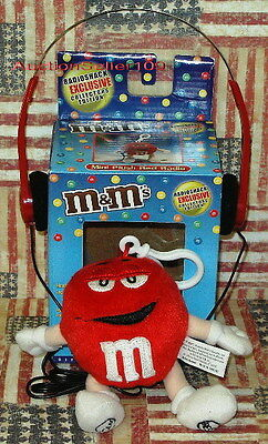 NEW Collector's Edition RED M&M's Plush ClipOn Radio with Headphones - NIB