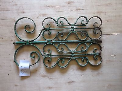 Antique Victorian Iron Gate Window Garden Fence Architectural Salvage #897