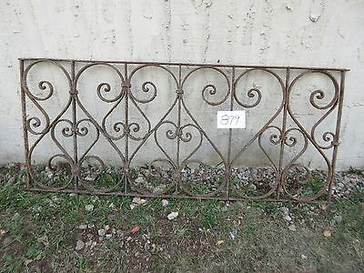 Antique Victorian Iron Gate Window Garden Fence Architectural Salvage #879