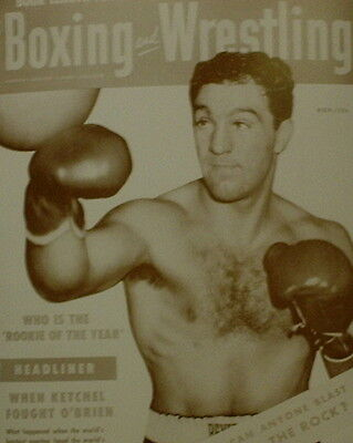 "Rocky Marciano Poster Print Nov 1954 Boxing and Wrestling Magazine Cover 11""x14"""