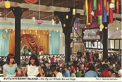 Butlins Holiday Camp Barry Island The Pig & Whistle Bar John Hinde 3By15 Pc