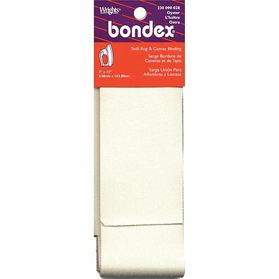 Bondex Iron On Rug Binding for Latch Hook Kits 2 inch wide tape. 72 inches long