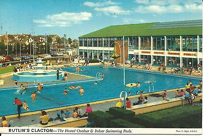 Butlins Clacton On Sea The Outdoor & Indoor Swimming Pools John Hinde 3C8 Pc