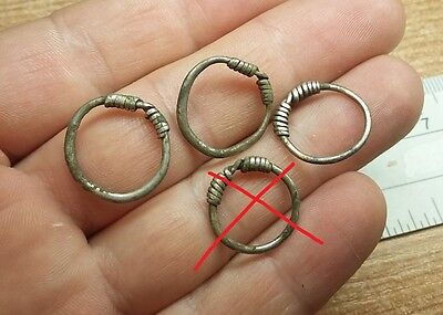ANCIENT CELTIC SILVER COILED  RING - 3 pcs.  #2310