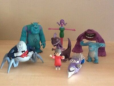 Disney Monster Inc Figures Talking Sully Figures, Boo, Randall, Watermoose