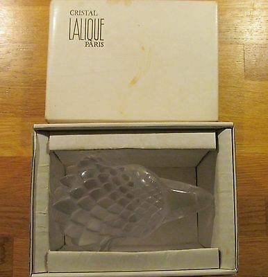 Vintage Lalique TETE D'AIGLE Eagle Head Crystal Glass MASCOT, Paperweight in BOX