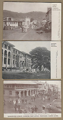 Sierra Leone British Colonial Late 1800S Early 1900S 3 Pc Animated Scenes Rare
