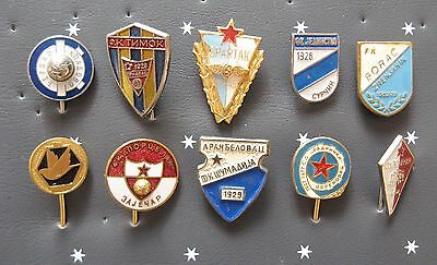 SERBIA - Superb Football Stick Pin Badge Collection x 10 All Different