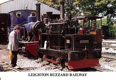 Leighton Buzzard Railway Chalomer and Doll at Pages Park Railway Postcard