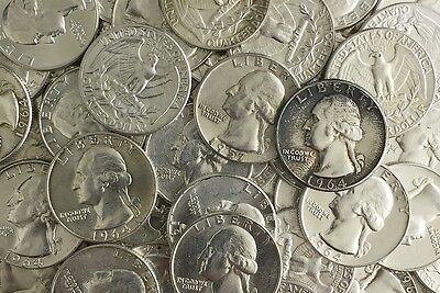 90% Lot US Junk Silver Coin 1/4 Pound LB 4 OZ. Pre-1965 Washington Quarter ONE 1